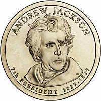 USA 1 Dollar 2008 07. Andrew Jackson