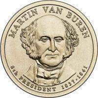 USA 1 Dollar 2008 08. van Buren