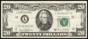 USA / United States P.452d 20 Dollars 1969 C (3+)
