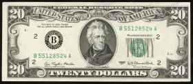 USA / United States P.465 20 Dollars 1977 (2+)