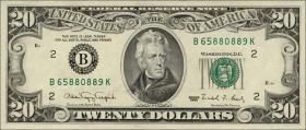 USA / United States P.487 20 Dollars 1990 (1)