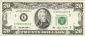 USA / United States P.493 20 Dollars 1993 (1)