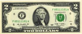 USA / United States P.530A 2 Dollars 2009 F (1)