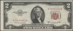 USA / United States P.380b 2 Dollars 1953B (1)