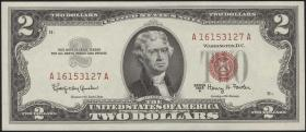 USA / United States P.382b 2 Dollars 1963A (1)