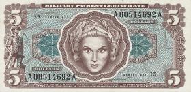 USA / United States P.M73 5 Dollars (1969) (1)