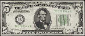 USA / United States P.429Da 5 Dollars 1934 A (1/1-)