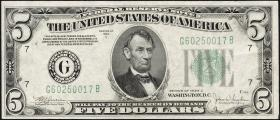 USA / United States P.429Dc 5 Dollars 1934 C (2+)