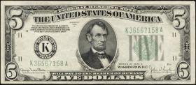 USA / United States P.429Dd 5 Dollars 1934 D (3)