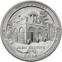 USA 1/4 Dollar 2016 33. Harpers Ferry