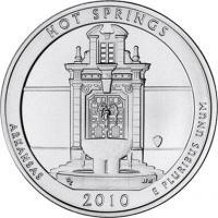 USA 1/4 Dollar 2010 01. Hot Springs