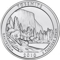 USA 1/4 Dollar 2010 03. Yosemite
