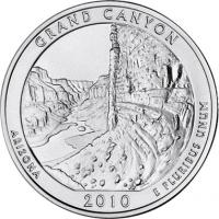 USA 1/4 Dollar 2010 04. Grand Canyon