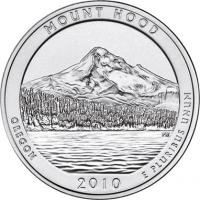 USA 1/4 Dollar 2010 05. Mount Hood