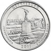 USA 1/4 Dollar 2011 06. Gettysburg
