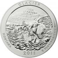 USA 5 Unzen Silber 2011 Glacier