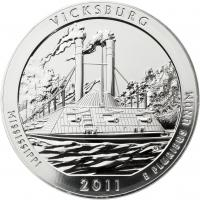 USA 5 Unzen Silber 2011 Vicksburg
