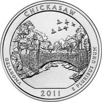 USA 1/4 Dollar 2011 10. Chickasaw