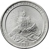 USA 1/4 Dollar 2012 14. Hawaii/ Volcanoes