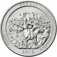 USA 1/4 Dollar 2012 15. Alaska/ Denali-Park
