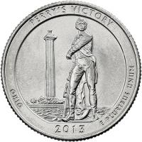 USA 1/4 Dollar 2013 17. Perry's Victory