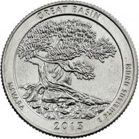 USA 1/4 Dollar 2013 18. Great Basin