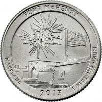 USA 1/4 Dollar 2013 19. Fort McHenry