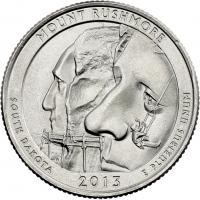 USA 1/4 Dollar 2013 20. Mount Rushmore