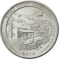 USA 1/4 Dollar 2014 21. Great Smoky Mountains