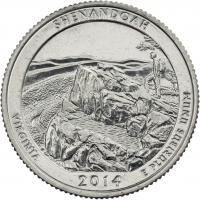 USA 1/4 Dollar 2014 22. Shenandoah
