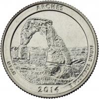 USA 1/4 Dollar 2014 23. Arches