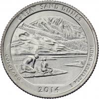 USA 1/4 Dollar 2014 24. Great Sand Dunes