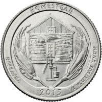 USA 1/4 Dollar 2015 26. Homestead