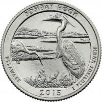 USA 1/4 Dollar 2015 29. Bombay Hook