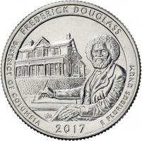 USA 1/4 Dollar 2017 37. Frederick Douglass