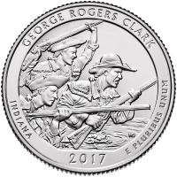 USA 1/4 Dollar 2017 40. George Rogers Clark National Historical Park