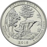 USA 1/4 Dollar 2018 41. Pictured Rocks National Lakeshore