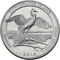 USA 1/4 Dollar 2018 44. Cumberland Island National Seashore