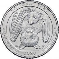 USA 1/4 Dollar 2020 51. Nationalpark American Samoa