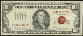 USA / United States P.384b 100 Dollars 1966 A (3)