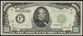 USA / United States P.435 1000 Dollar 1934 (2+)
