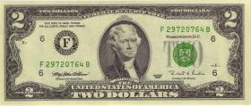 USA / United States P.497 2 Dollars 1995 (1)