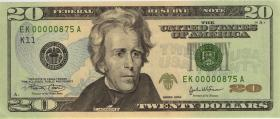 USA / United States P.521a 20 Dollars 2004 (1) low number
