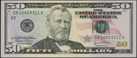 USA / United States P.522a 50 Dollars 2004 (1)
