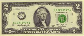 USA / United States P.538 2 Dollars 2013 K (1)