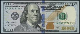 USA / United States P.536r 100 Dollars 2009 A (2013) * (1) Ersatznote