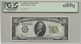 USA / United States P.430D 10 Dollars 1934 (1) D01708119A