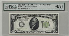 USA / United States P.430D 10 Dollars 1934 (1) B54450920A