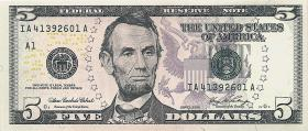 USA / United States P.524 5 Dollars 2006 (1)