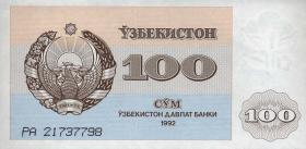 Usbekistan / Uzbekistan P.67 100 Sum 1992 (1)